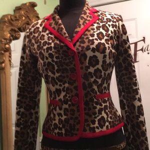 Etcetera size 2 Cheetah print bolero jacket